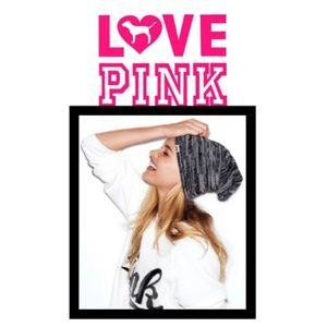PINK Victoria's Secret Heather Gray Beanie